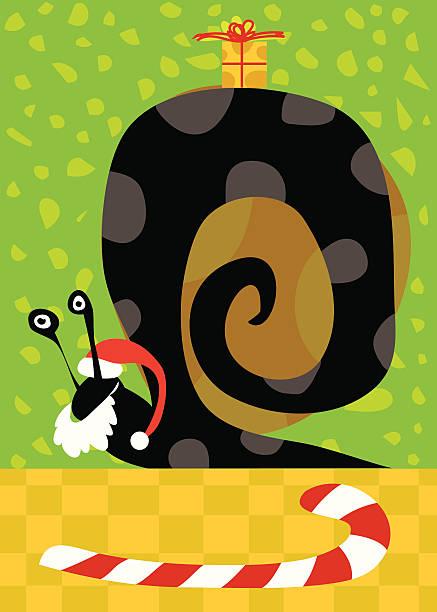 Christmas snail vektorkonstillustration