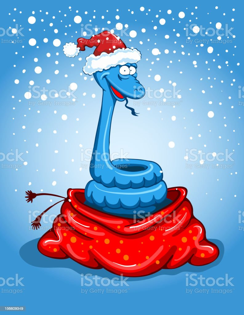 Christmas snake royalty-free stock vector art