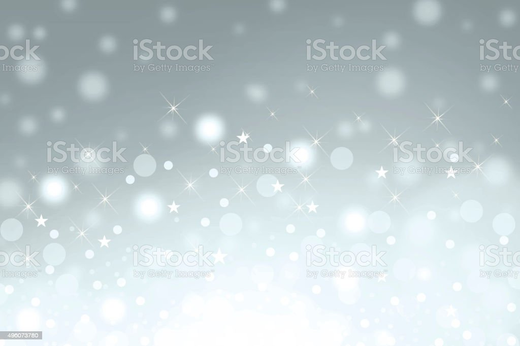Christmas snow background with sparkle vector art illustration