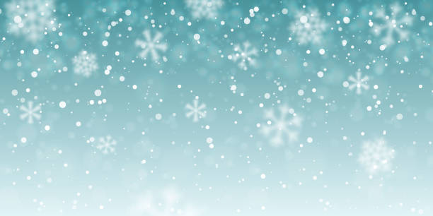 weihnachtsschnee. fallende schneeflocken auf transparentem hintergrund. schneefall. vektor-illustration - schneefall stock-grafiken, -clipart, -cartoons und -symbole