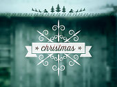 istock christmas snow flake symbol on blurred snowy winter background 495334746