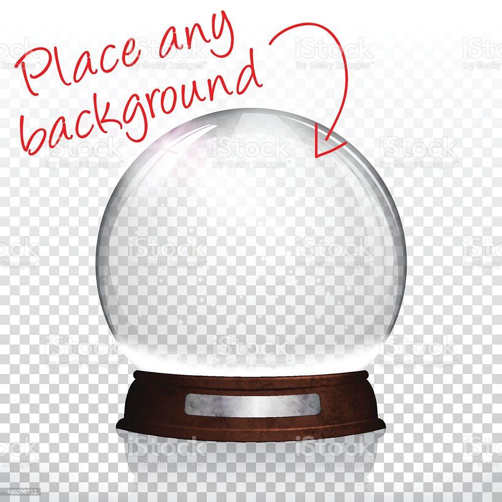 Christmas snow globe for design blank background stock vector art more images of 2015 - Boule a neige sans glycerine ...