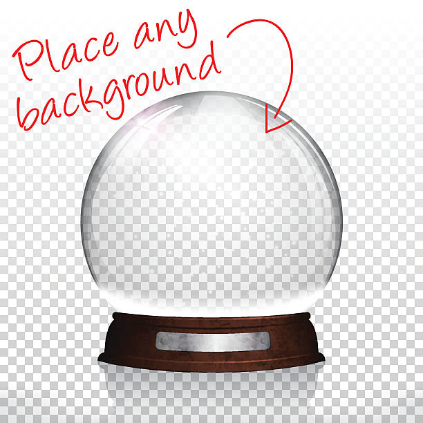 Christmas snow globe for design - Blank Background Christmas snow globe for design. With space for your text and your background. no people stock illustrations