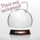 Christmas snow globe for design - Blank Background