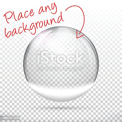 Christmas snow globe for design. With space for your text and your background.