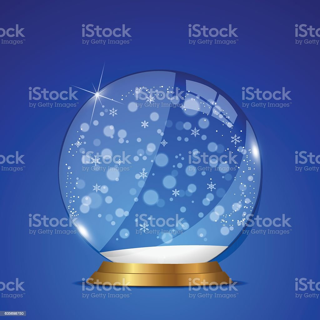 Christmas Snow Globe Illustration royalty-free christmas snow globe illustration stock vector art & more images of abstract