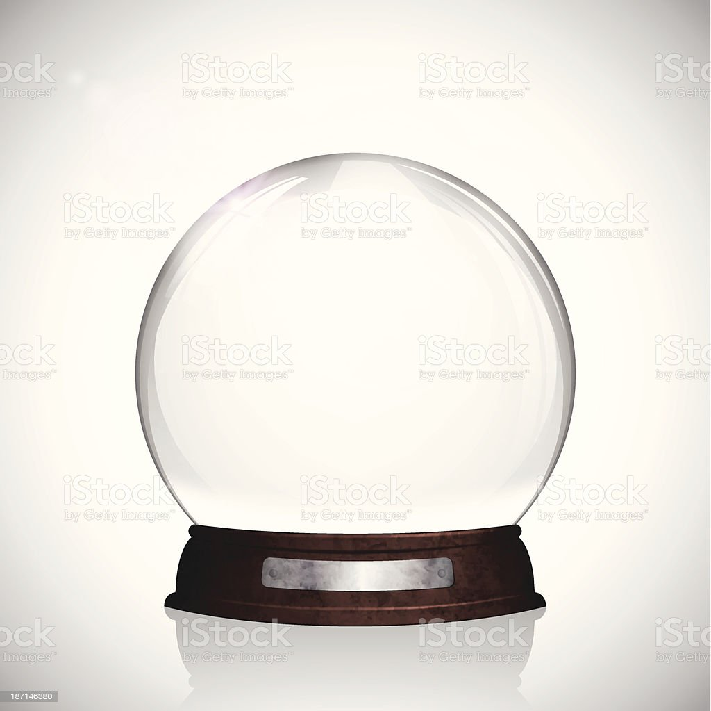 Christmas snow globe vector art illustration