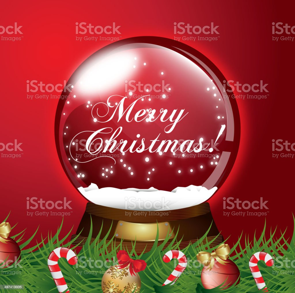 christmas snow globe royalty-free stock vector art