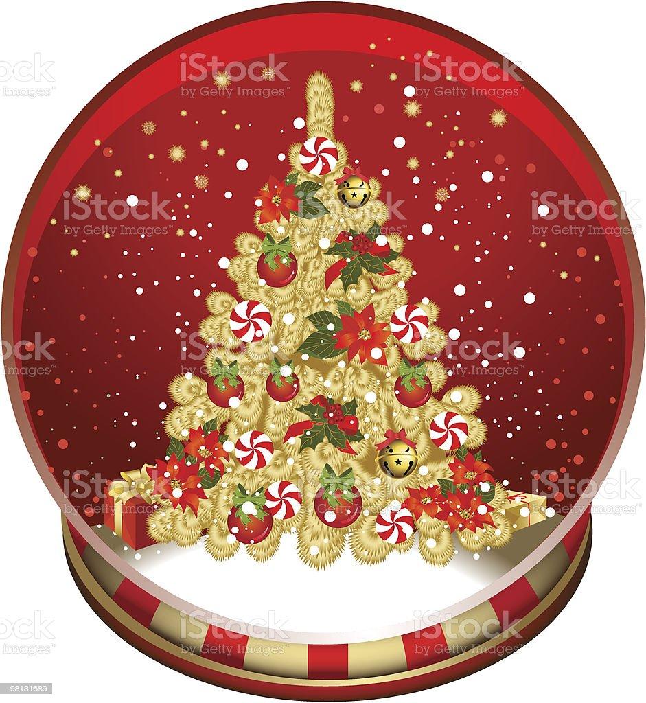 Natale neve globo. natale neve globo - immagini vettoriali stock e altre immagini di albero royalty-free