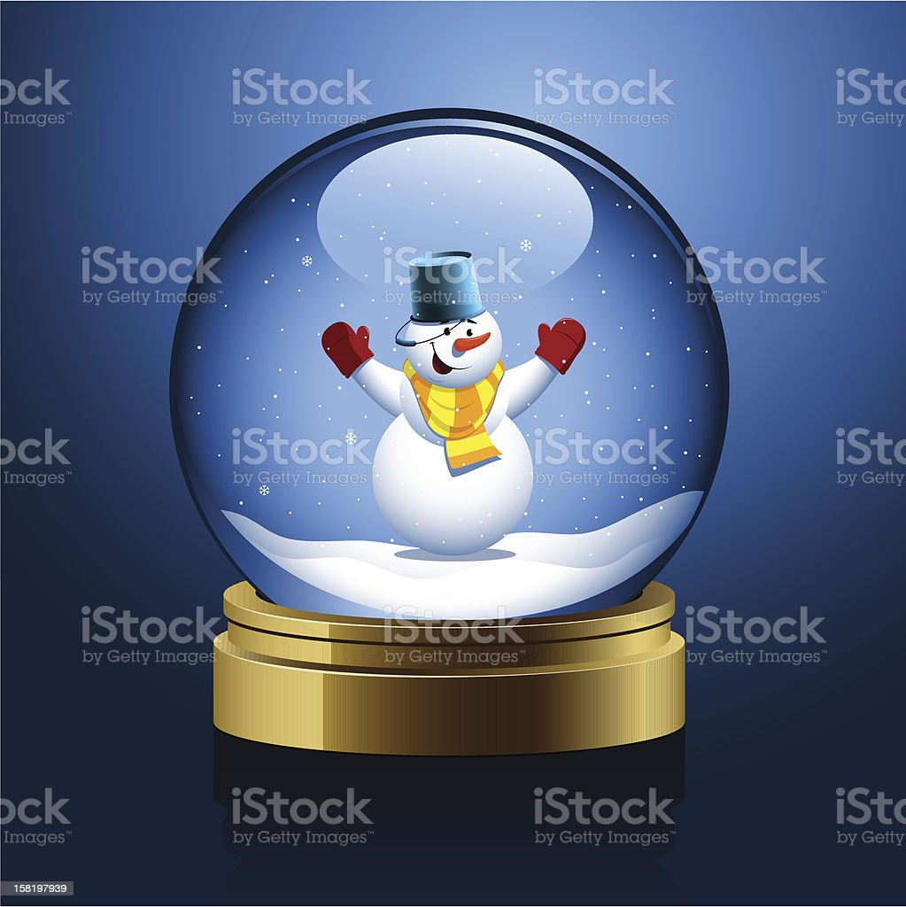 Christmas snow globe with a snowman royalty-free christmas snow globe with a snowman stock vector art & more images of christmas