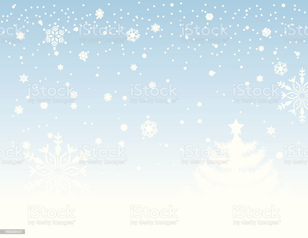Christmas snow (8 different types of flakes) royalty-free stock vector art