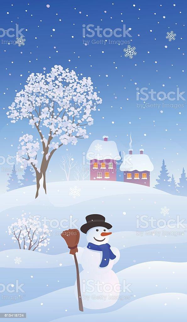 Christmas Snow Vertical Background Stock Vektor Art und mehr Bilder ...