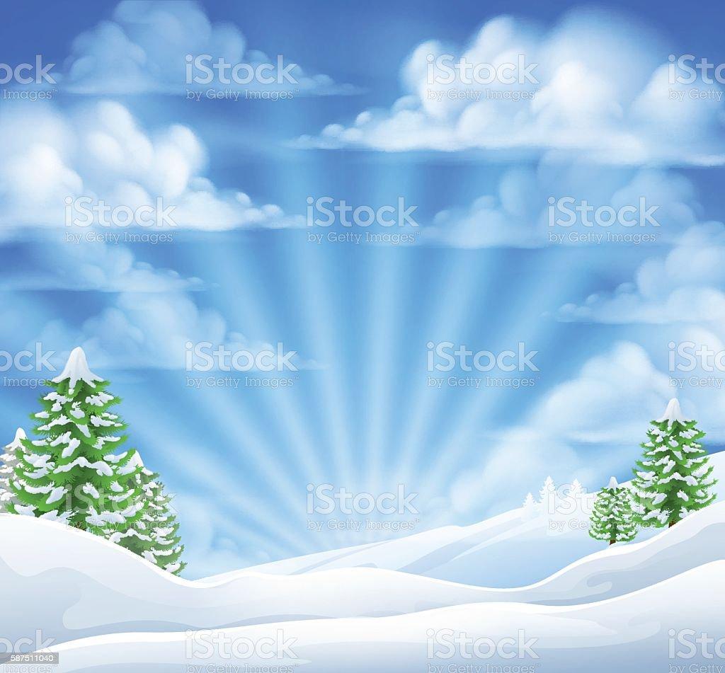 Christmas Snow Winter Background Stock Vektor Art und mehr Bilder ...