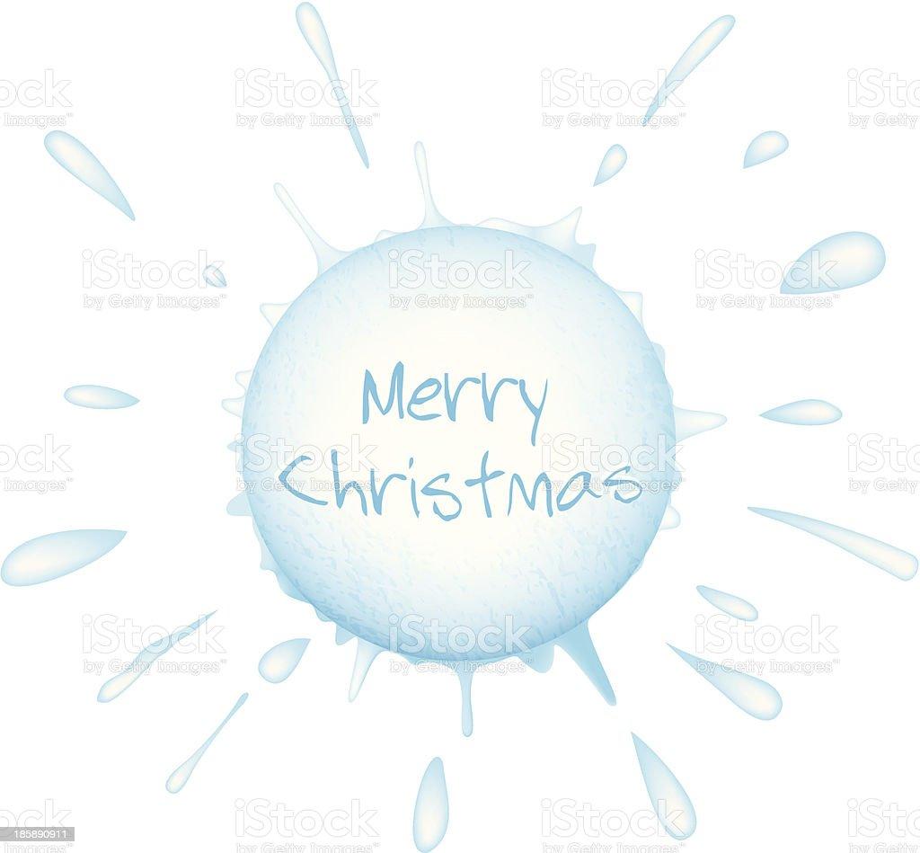 Christmas snowball splash royalty-free stock vector art