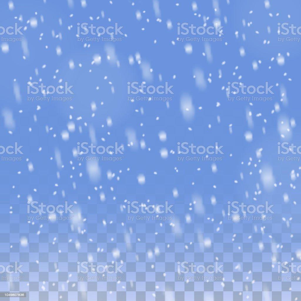 Weihnachten Schnee transparenten Hintergrund – Vektorgrafik
