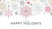 istock Christmas Snowflake Background. Invitation 1338923681