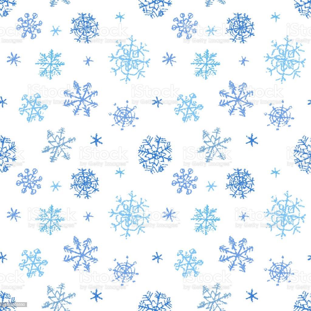Main De Flocon De Neige De Noel Dessin Motif Transparente En Bleu