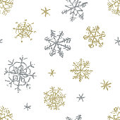 Hand drawn vector grunge style texture background. Winter decor ornament