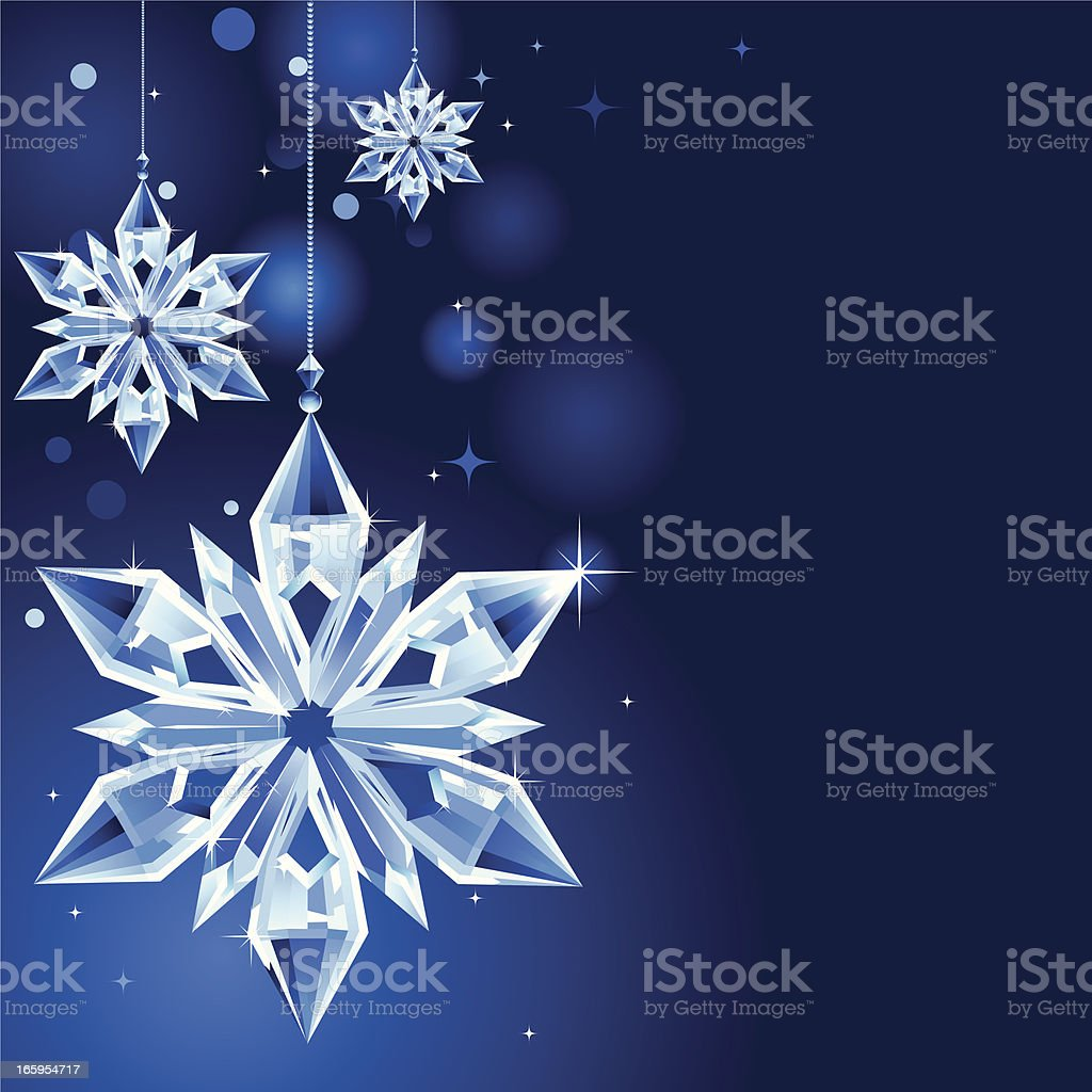 Christmas snowflake icicle decoration royalty-free stock vector art