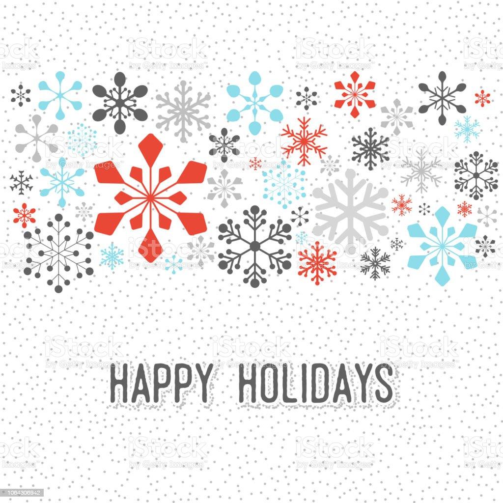 Christmas Snowflake Pattern vector art illustration