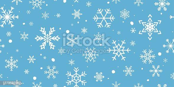istock Christmas Snowflake Seamless Pattern 1273532252