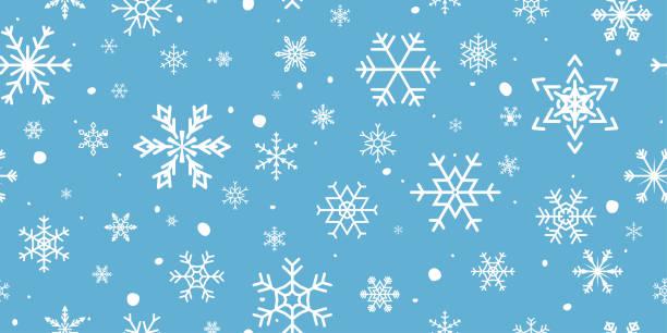 Christmas Snowflake Seamless Pattern vector art illustration
