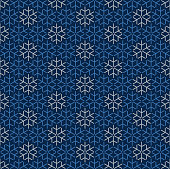 istock Christmas Snowflake Seamless Pattern. 1283475041