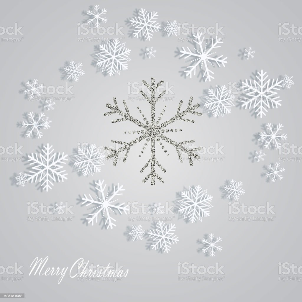 Christmas snowflake vector background vector art illustration