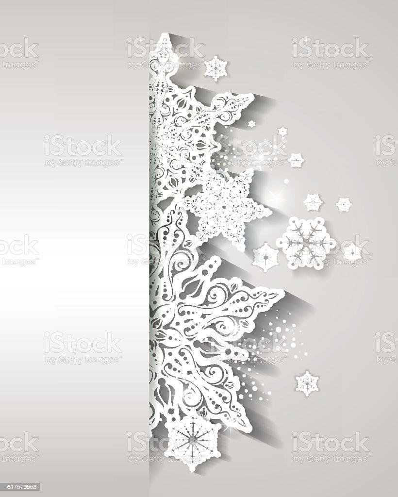 Weihnachten Schneeflocke-Schneekristall – Vektorgrafik