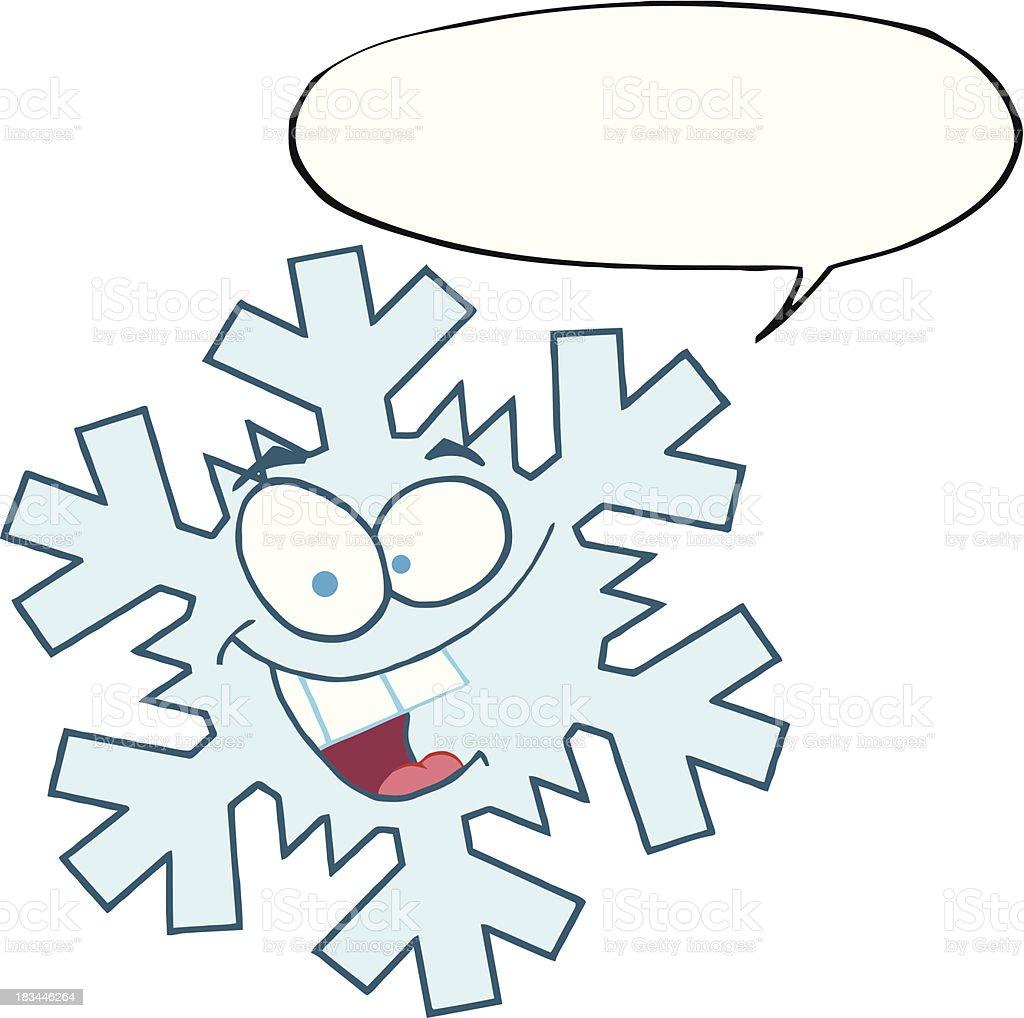 Рисунок снежинки смешной