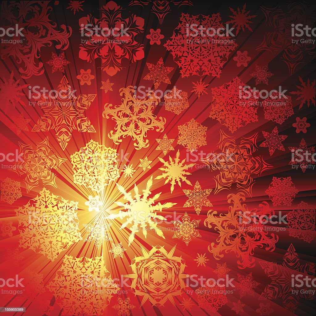 christmas snowflakes background royalty-free stock vector art