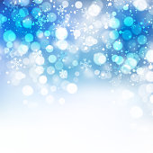 Christmas snowflakes background with bokeh. Vector illustration