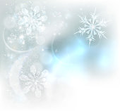 Christmas Snowflakes Ice Crystals Background