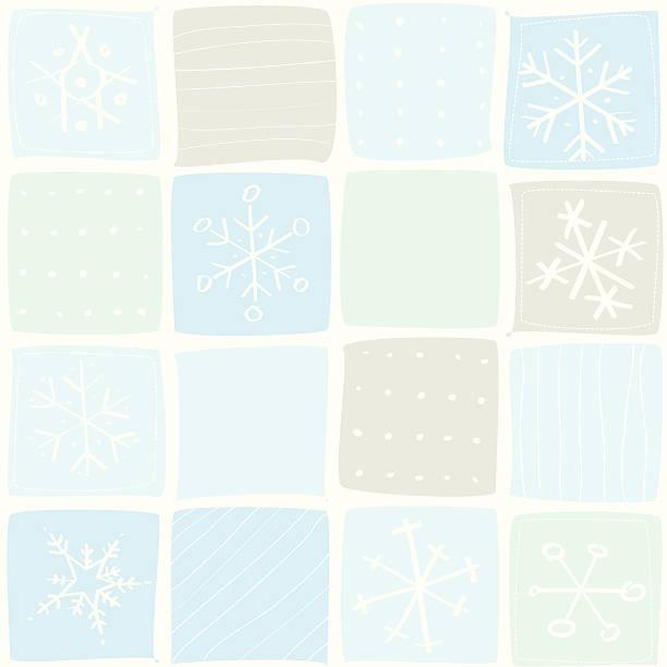Christmas snowflakes pattern vector art illustration