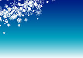 Illustration of beautiful snowflakes on gradient blue background