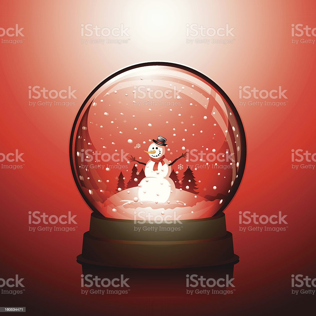 Christmas snowglobe royalty-free stock vector art