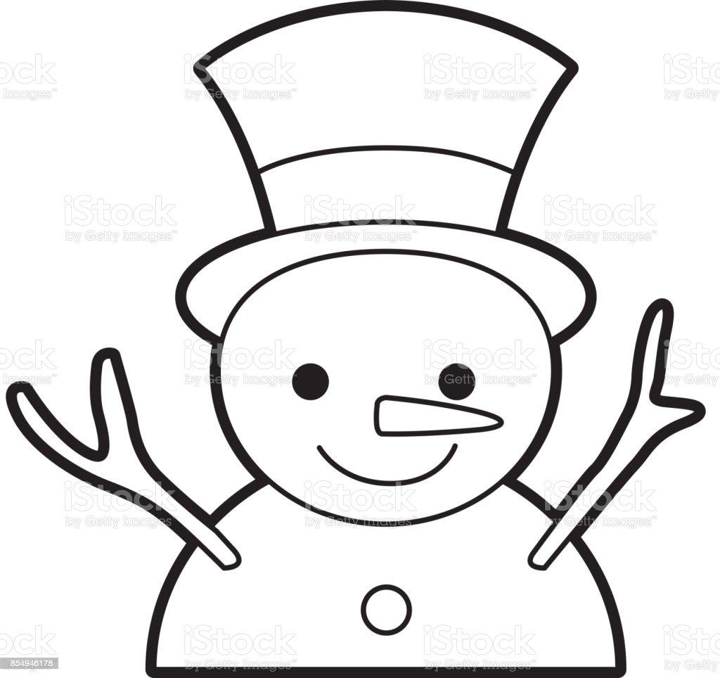 Ilustración de Navidad Muñeco De Nieve Dibujos Animados Sonrisa ...