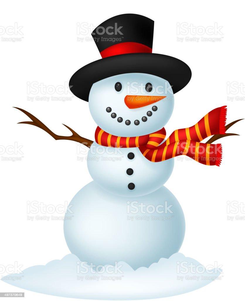 weihnachten schneemann comic tr gt eine m tze und roten. Black Bedroom Furniture Sets. Home Design Ideas