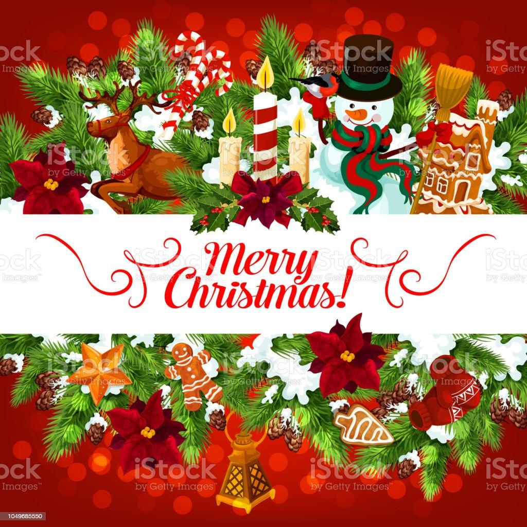 Schneemann Weihnachtsgeschenke Vektorgrußkarte Stock Vektor Art und ...