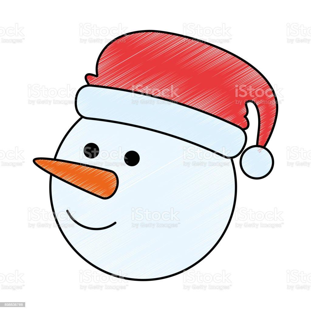Weihnachten Schneemann Kawaii Charakter Stock Vektor Art und mehr ...
