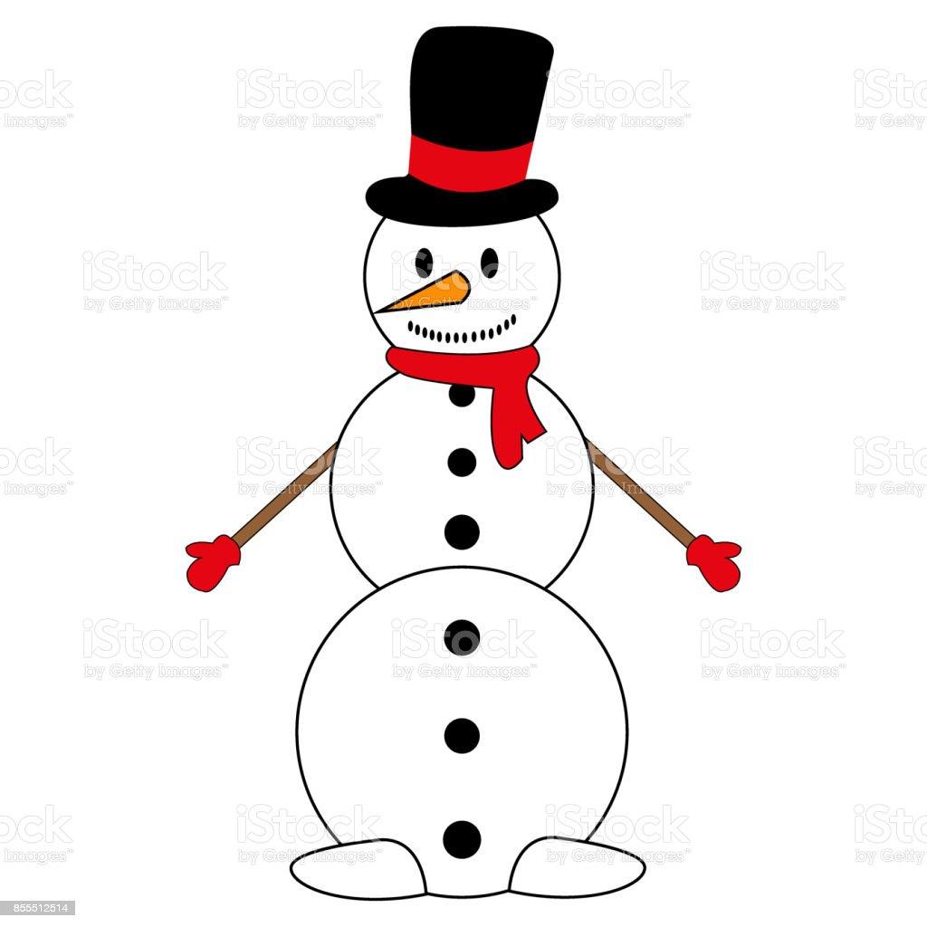 Weihnachten Schneemann Auf Weißem Hintergrund Stock Vektor Art und ...