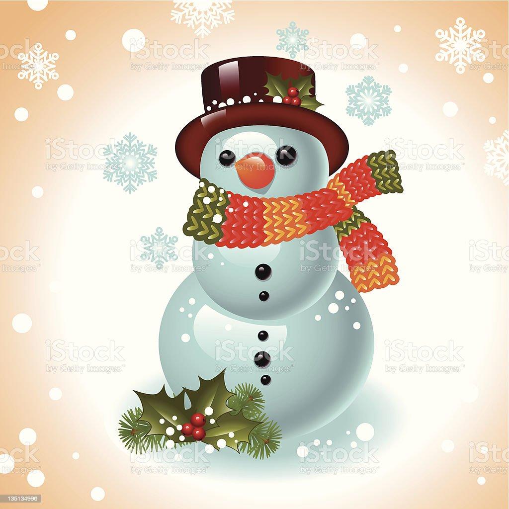 Weihnachten Schneemann Stock Vektor Art und mehr Bilder von Baum ...