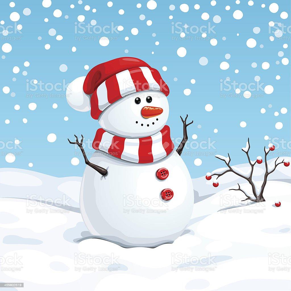 Noël Bonhomme de neige - Illustration vectorielle