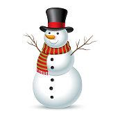 クリスマスのスノーマンです。ベクトルイラストレーション