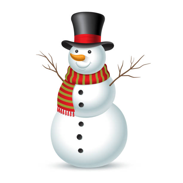 Christmas snowman. Vector illustration Christmas snowman isolated on white background. Vector illustration snowman stock illustrations
