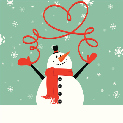 Christmas snowman wth mittens