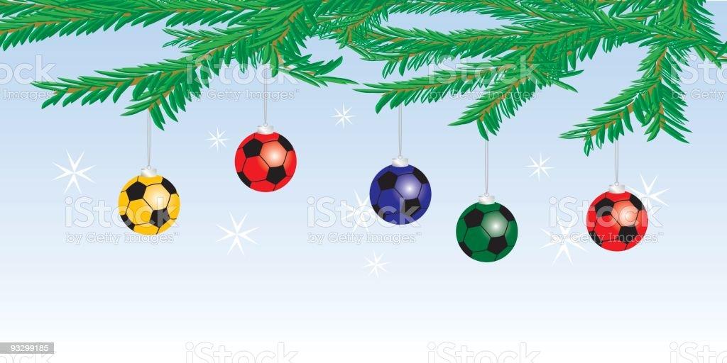Weihnachten Fussball Gluhbirnen Stock Vektor Art Und Mehr