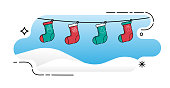 Christmas Sock icon vector illustration isolated on white background. Christmas Sock in trendy flat design style. Sock vector icon modern and simple flat symbol for website, mobile, logo, app design. Vector EPS 10