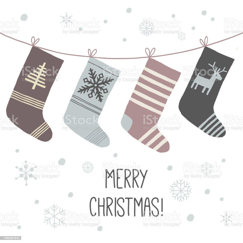 Ilustración de Calcetines De La Navidad Un Conjunto De Calcetines ...