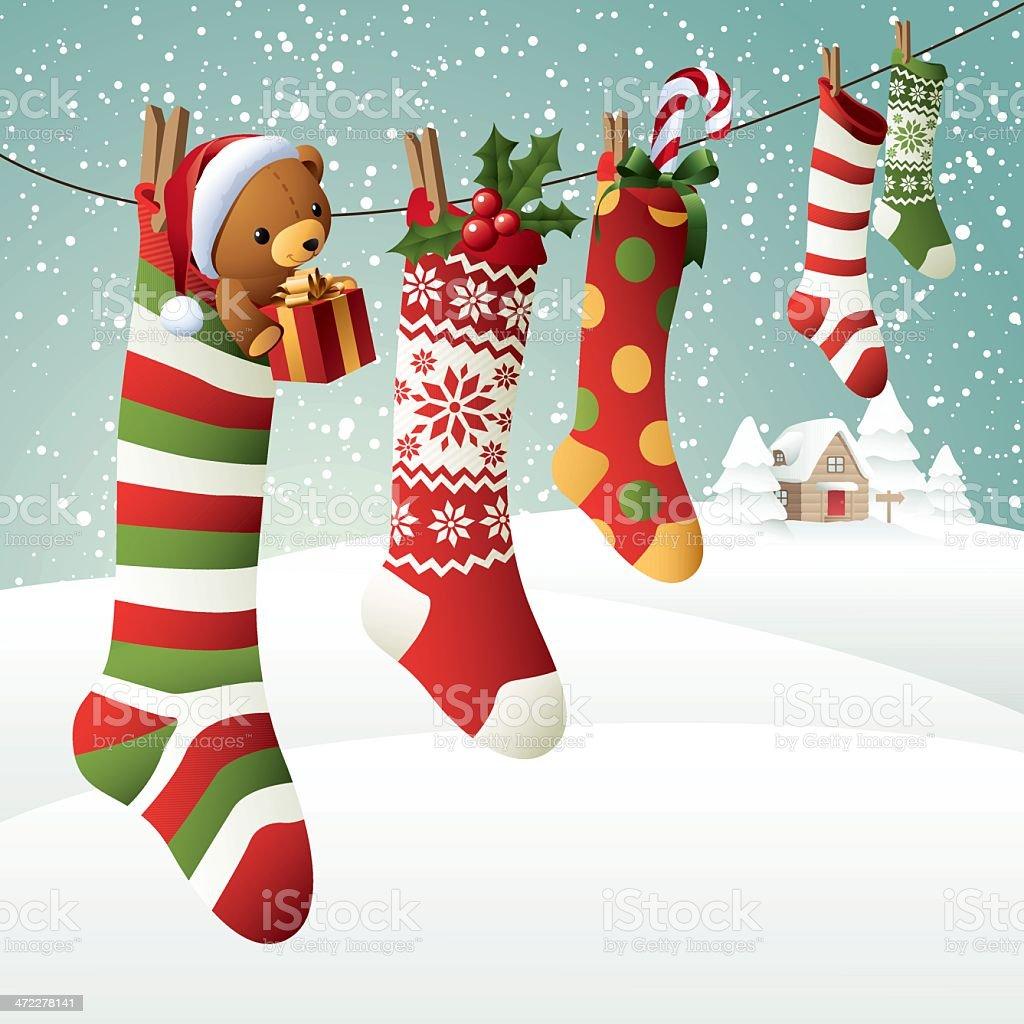 Christmas Socks royalty-free christmas socks stock vector art & more images of animal imitation